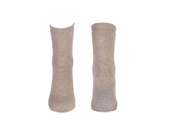 beige antislip sokken