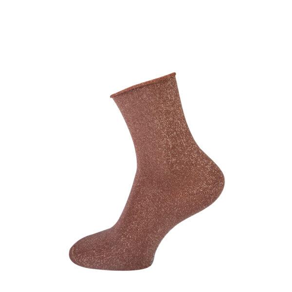 beige glitter sokken