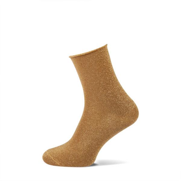 okergele glitter sokken