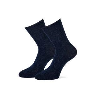 donkerblauwe glitter sokken