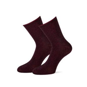 bordeaux rode glitter sokken