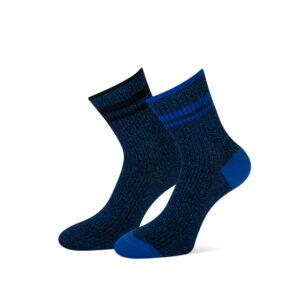 blauwe glittersokken