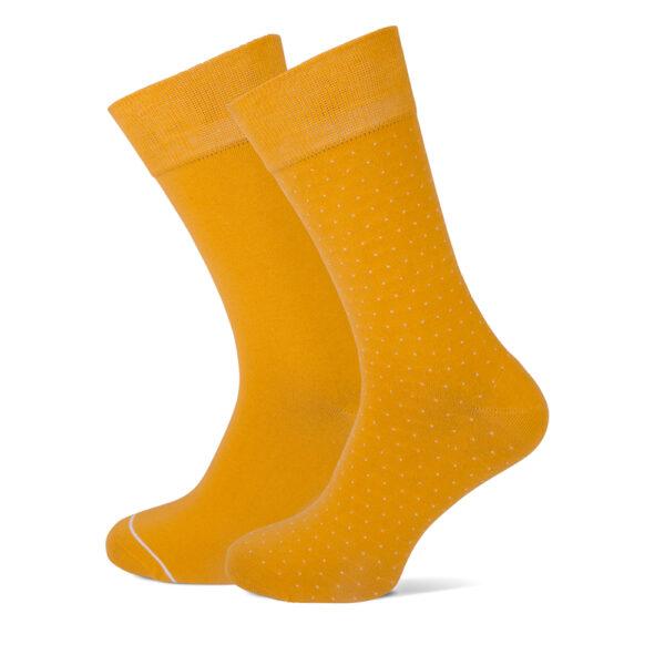 okergele heren sokken