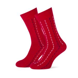 rode heren sokken